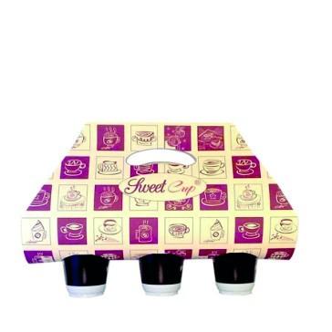 Tragetaschen Kaffee ToGo - 3 Löcher