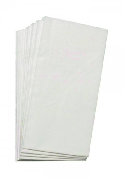 Servietten Weiß 33x33- 2LG - 1/8Falz