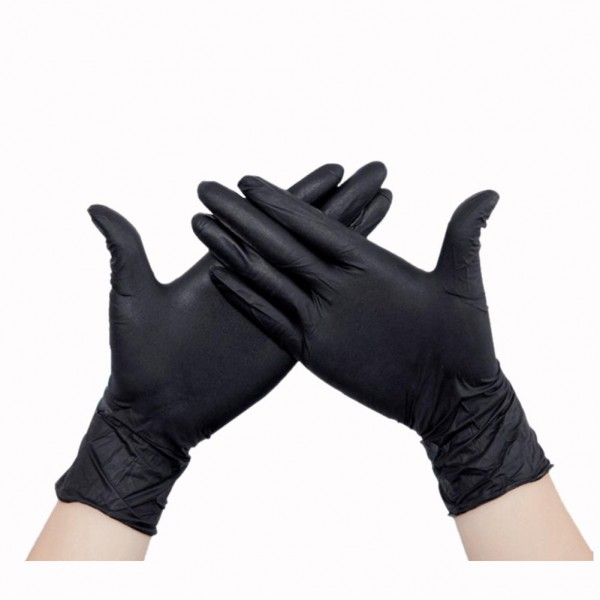 Latexhandschuhe puderfrei schwarz Größe L