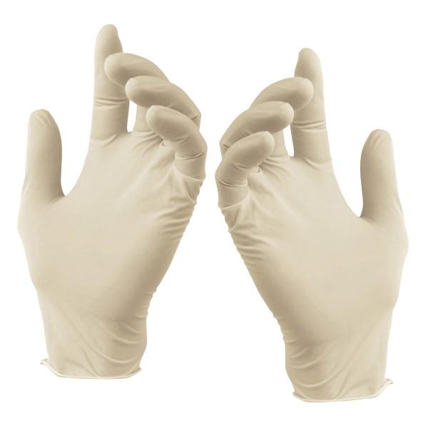 Latexhandschuhe puderfrei weiß Größe L