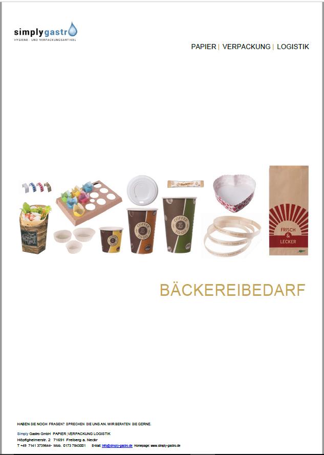 Simply Gastro Katalog Gude Bäckerei