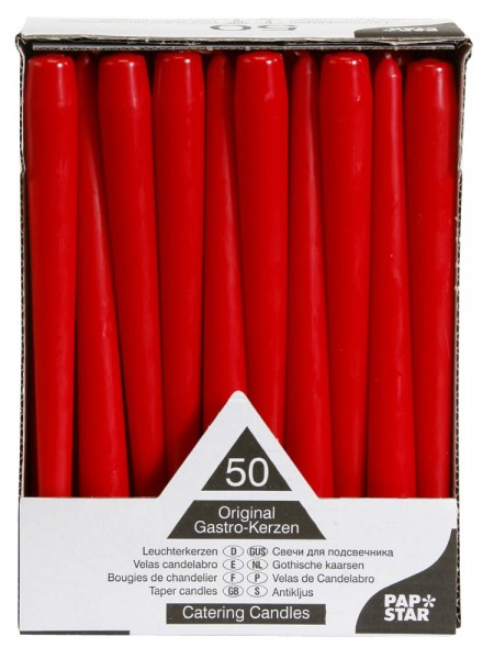 Leuchtkerzen Rot 25cm